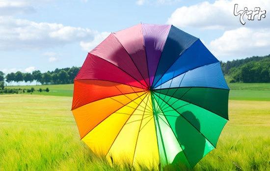 تاثیر رنگ ها بر مغز انسان