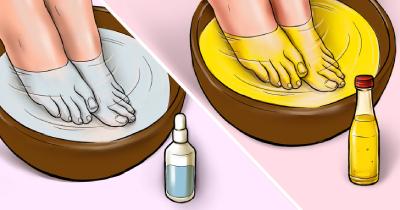 حمام پا برای رفع مشکلات بهداشتی